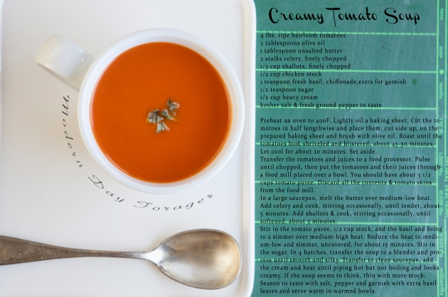 Creamy Tomato Soup by Modern Day Forager